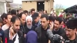 اعتراض یک خانوم حادثه دیده گلستانی به روحانی