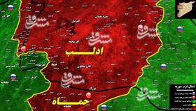 حملات سنگین موشکی، توپخانهای و هوایی در شمال سوریه/ هلاکت حداقل ۳۰۰ تروریست در شمال حماه و جنوب ادلب + نقشه میدانی و عکس