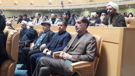 محمدرضا باهنر در آیین گرامیداشت سومین سالگرد رحلت هاشمی رفسنجانی