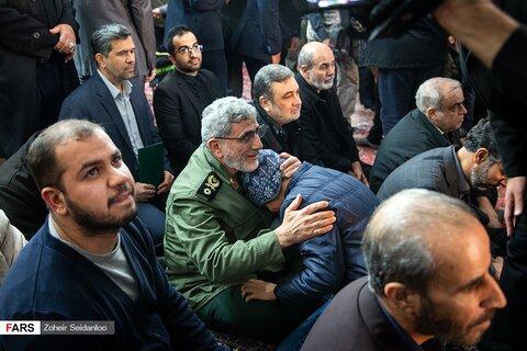 سردار قاآنی در بزرگداشت مجاهد شهید ابومهدی المهندس+عکس