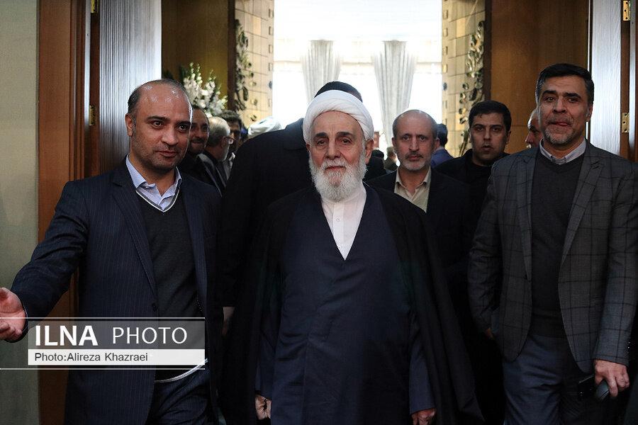 حضور ناطق نوری در آیین گرامیداشت سومین سالگرد رحلت هاشمی رفسنجانی+عکس